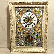 Для дома и интерьера handmade. Livemaster - original item Clocks, decorative,ceramic, with a pendulum in a baguette. Handmade.