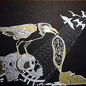 Картины и панно handmade. Livemaster - original item Raven and Time. Handmade.