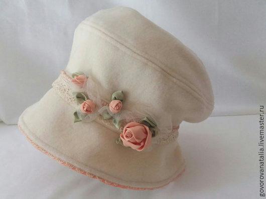 Шляпы ручной работы. Ярмарка Мастеров - ручная работа. Купить Шляпа Бутоны роз. Handmade. Бежевый, шляпа для девочки