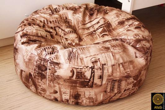 Текстиль, ковры ручной работы. Ярмарка Мастеров - ручная работа. Купить Чехол для Пуфа, подушка для пола. Авторская задумка. ручная работа. Handmade.