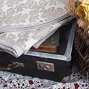 """Для дома и интерьера ручной работы. Ярмарка Мастеров - ручная работа Плед льняной """"Дом там,где сердце"""". Handmade."""