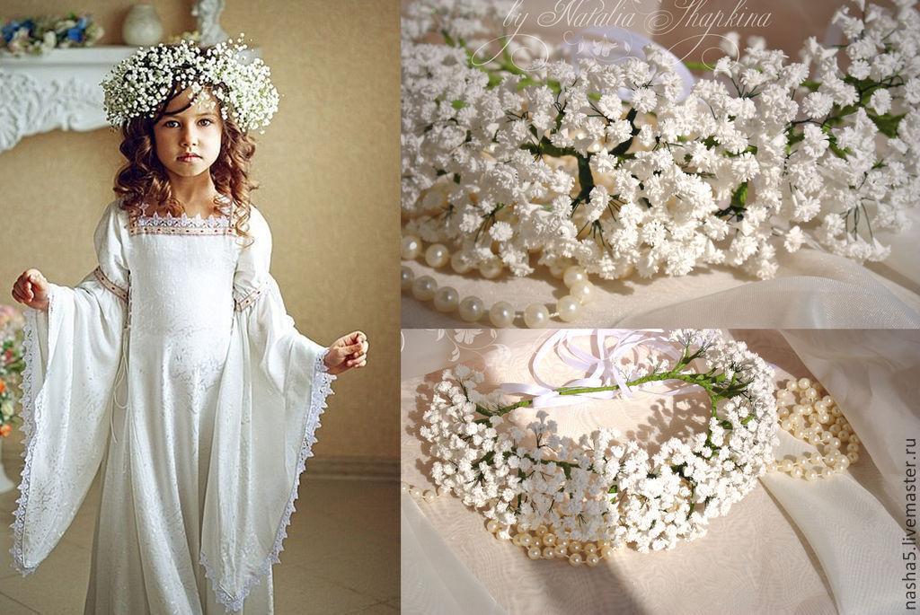 A flower crown of baby's breath, a flower crown from flowers, wedding wreath, wreath for hair, tiara for bride, tiara, wedding accessories Smolensk