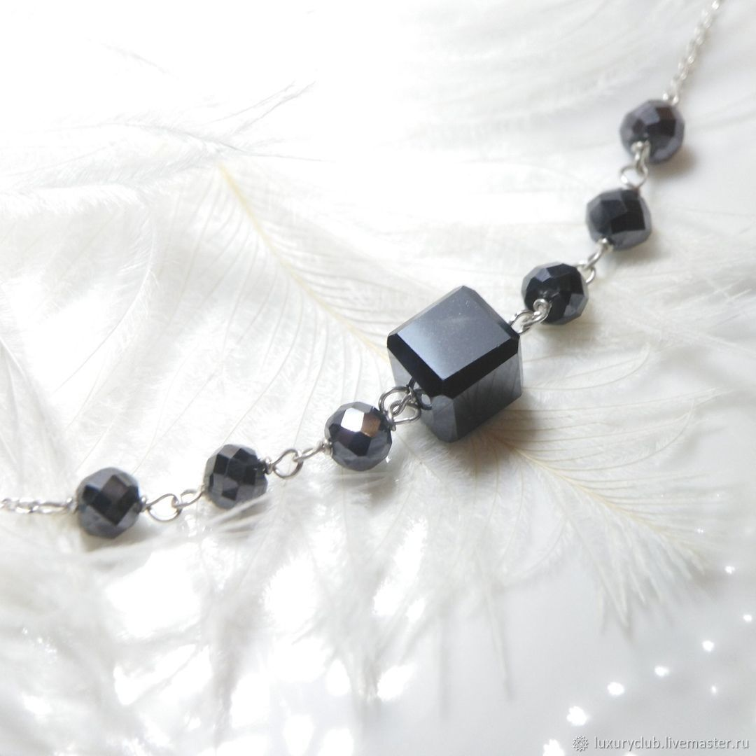 Chain with black diamonds ' Thin edges ', Chain, Tolyatti,  Фото №1