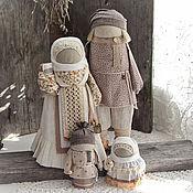 """кукла-оберег Семья""""Ванильное облако""""."""