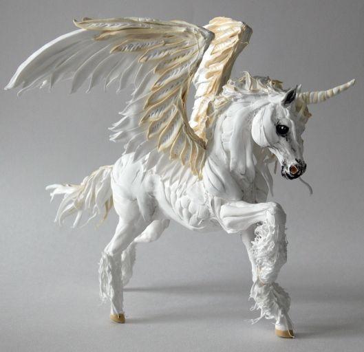 """Сказочные персонажи ручной работы. Ярмарка Мастеров - ручная работа. Купить фигурка """"Пегас единорог"""". Handmade. Лошадь, пегасы, единороги"""