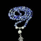 Фен-шуй и эзотерика handmade. Livemaster - original item Beads of natural sodalite. Handmade.