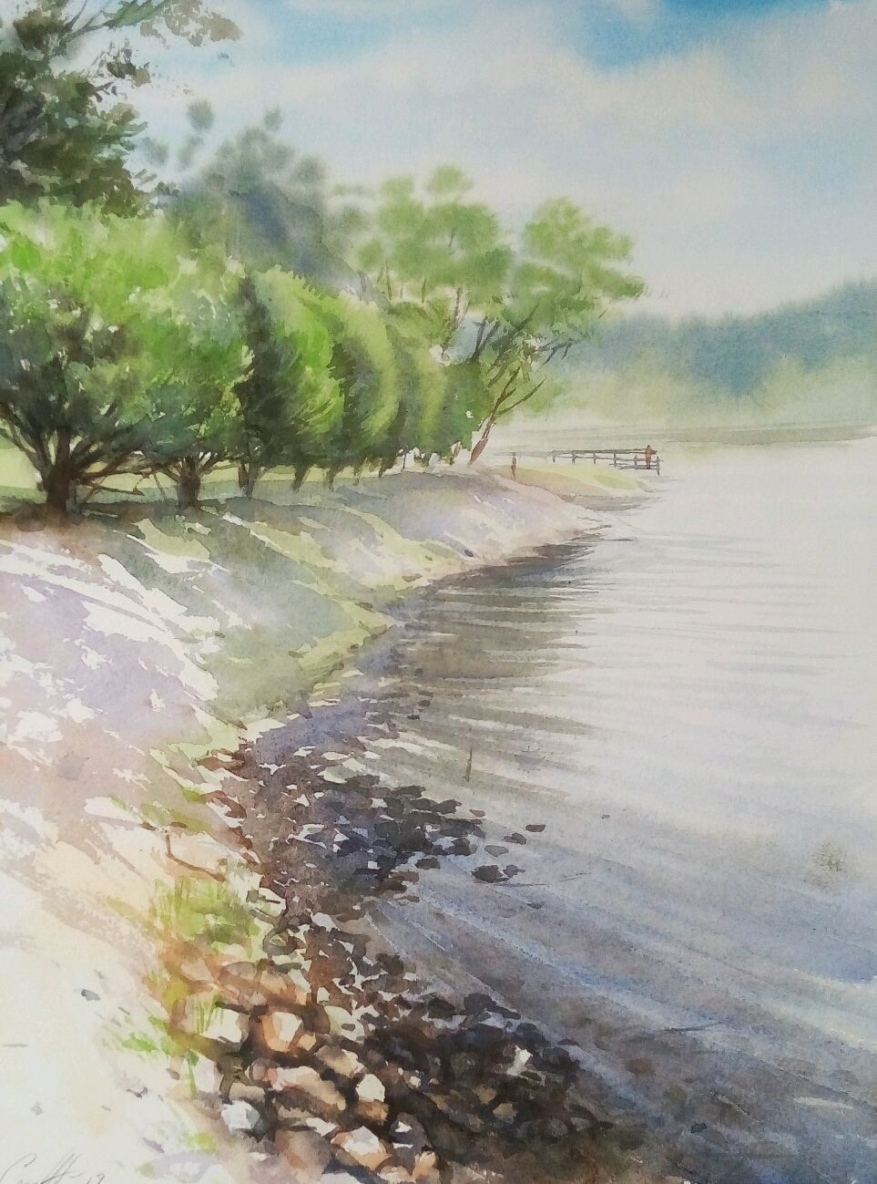The watercolor paintings of 'Pokrovsky-glebovskiy Park.', Pictures, Moscow,  Фото №1