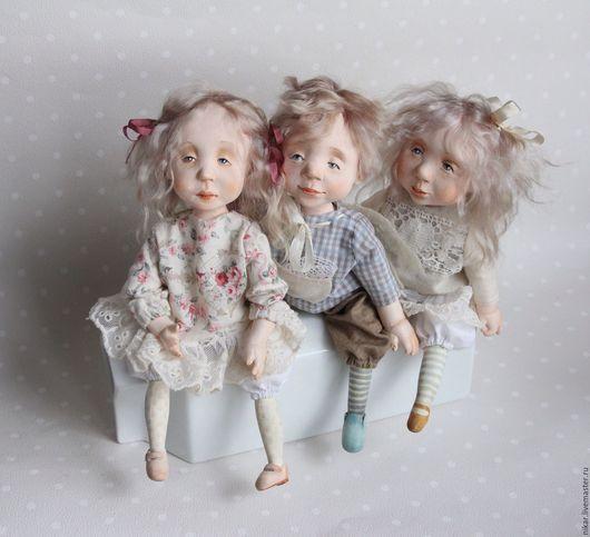 Коллекционные куклы ручной работы. Ярмарка Мастеров - ручная работа. Купить Все дети ангелы! Куклы подвижные будуарные. Handmade.