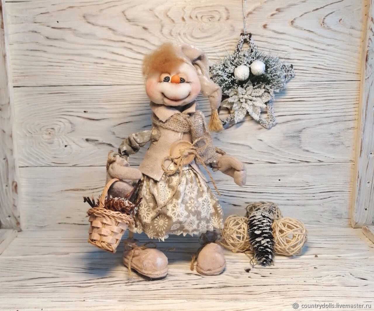"""Новый год. Кукла текстильная,интерьерная, """"Снеговушка Мотя"""", Куклы и пупсы, Междуреченск,  Фото №1"""