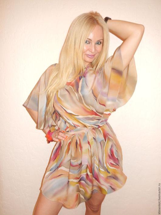 Платья ручной работы. Ярмарка Мастеров - ручная работа. Купить платье с крылышками - Загадка. Handmade. Бежевый, хендмейд, женская одежда