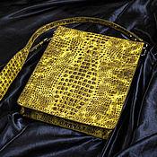 Сумки и аксессуары ручной работы. Ярмарка Мастеров - ручная работа Мужская кожаная сумка А4 кожа под крокодила. Handmade.