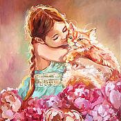 Картины и панно handmade. Livemaster - original item My sweet ginger - oil painting. Handmade.