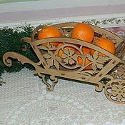 Для дома и интерьера ручной работы. Ярмарка Мастеров - ручная работа конфетница Телега. Handmade.