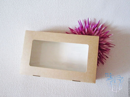 Упаковка ручной работы. Ярмарка Мастеров - ручная работа. Купить Крафт коробки, 20х12х4 см., с окошком, коробочка, коробка крафт, эко. Handmade.