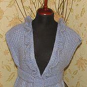 Одежда ручной работы. Ярмарка Мастеров - ручная работа удлиненный жилет из мохера. Handmade.