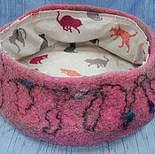 Для домашних животных, ручной работы. Ярмарка Мастеров - ручная работа Лежаночка для животных из 100% шерсти. Handmade.