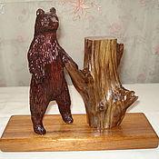 Для дома и интерьера manualidades. Livemaster - hecho a mano Suelo de madera de oso. la estatuilla de el oso. Handmade.