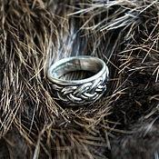 Украшения ручной работы. Ярмарка Мастеров - ручная работа Серебряное кольцо «Северная плетенка» кольцо серебро 925 пробы. Handmade.