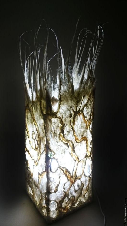 """Освещение ручной работы. Ярмарка Мастеров - ручная работа. Купить Светильник """" Айсберг"""". Handmade. Белый, свет, дизайн интерьера"""