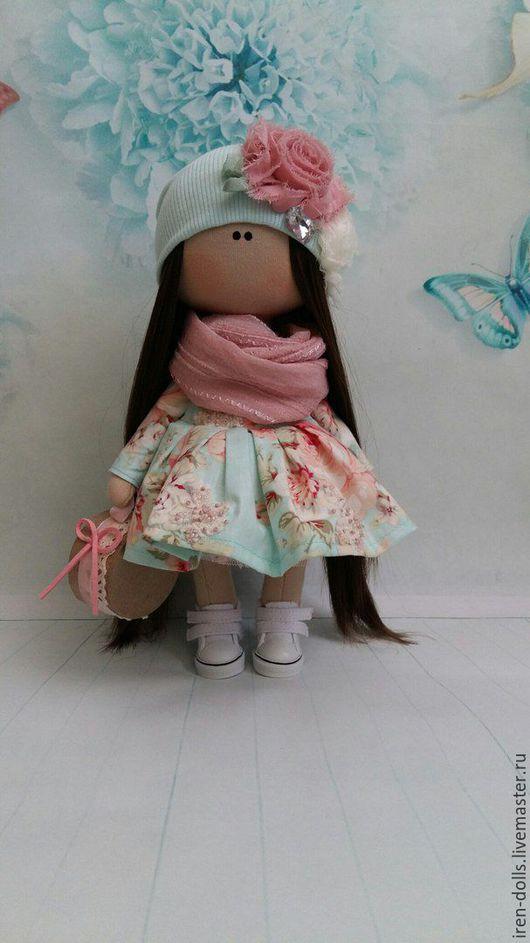 Куклы тыквоголовки ручной работы. Ярмарка Мастеров - ручная работа. Купить цветочная девочка. Handmade. Тёмно-бирюзовый, кукла в подарок
