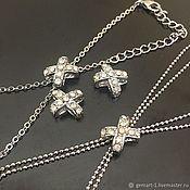 Материалы для творчества handmade. Livemaster - original item Jewelry bead art. 3-63 with crystals. Handmade.