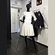 Платья ручной работы. Ярмарка Мастеров - ручная работа. Купить Платье белое в вышивкой из шерсти. Handmade. Белый, шерстяное платье