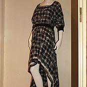 Одежда ручной работы. Ярмарка Мастеров - ручная работа Платье из вышитого хлопка с отделкой из кожи. Handmade.