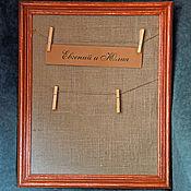Свадебный салон ручной работы. Ярмарка Мастеров - ручная работа Рамка для плана рассадки гостей. Handmade.