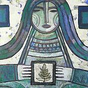 Картины и панно ручной работы. Ярмарка Мастеров - ручная работа Госпожа Зелёная юбка. Handmade.