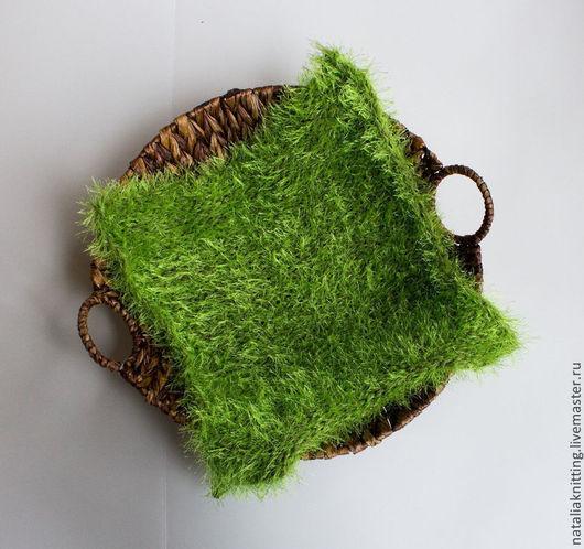 """Пледы и одеяла ручной работы. Ярмарка Мастеров - ручная работа. Купить Коврик """"Лужайка"""" для фотосессии. Handmade. Зеленый, для фотосессии малышей"""