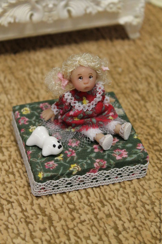 Кукольный дом ручной работы. Ярмарка Мастеров - ручная работа. Купить Девочка с собачкой. Handmade. Комбинированный, кукольный дом