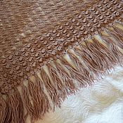 Аксессуары handmade. Livemaster - original item Hooked cacao-brown shawl. Handmade.