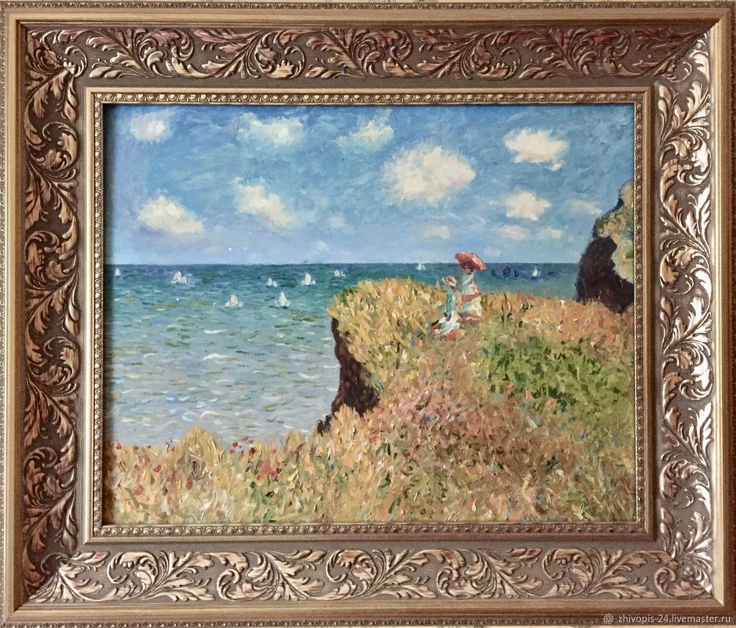 Paintings:oil Painting. Walking on rocks, Pictures, Moscow,  Фото №1