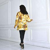 """Одежда ручной работы. Ярмарка Мастеров - ручная работа Блузка-рубашка """"Золотые цветы"""". Handmade."""