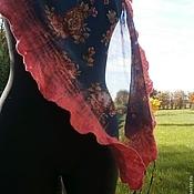 Аксессуары ручной работы. Ярмарка Мастеров - ручная работа Фильц Цветочный. Нуно-войлочный шарфик. Handmade.