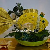 Цветы и флористика ручной работы. Ярмарка Мастеров - ручная работа Золотая рыбка из цветов. Handmade.