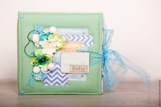 Подарки для новорожденных, ручной работы. Ярмарка Мастеров - ручная работа. Купить альбом для новорожденного. Handmade. Подарок на день рождения, цветы