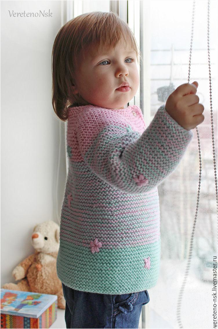 Вязание детских кардиганов для девочек 134