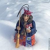 Колокольчики ручной работы. Ярмарка Мастеров - ручная работа Баба Яга на зимовке колокольчик. Handmade.