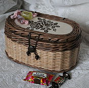 Для дома и интерьера ручной работы. Ярмарка Мастеров - ручная работа Шкатулка-конфетница плетеная. Handmade.
