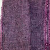 Материалы для творчества ручной работы. Ярмарка Мастеров - ручная работа Ткань льняная- свекольный меланж. Handmade.