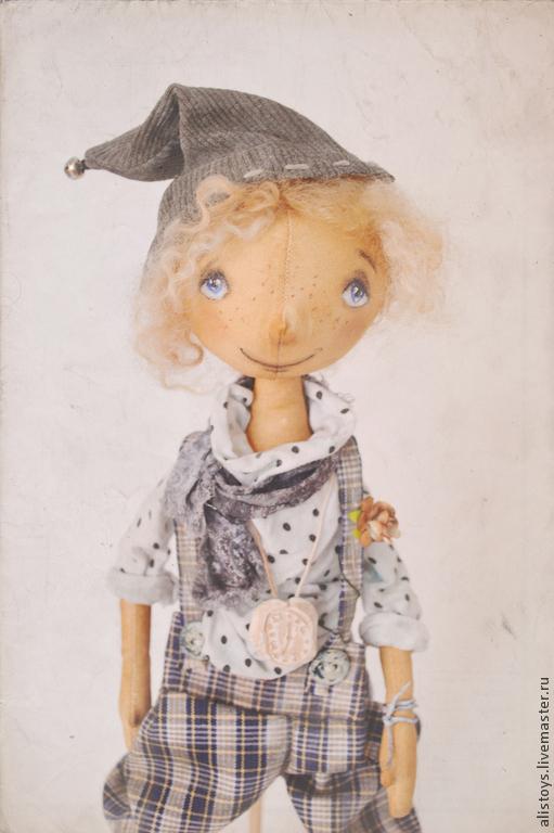 Коллекционные куклы ручной работы. Ярмарка Мастеров - ручная работа. Купить Эльф Полль. Handmade. Белый, кофе, время