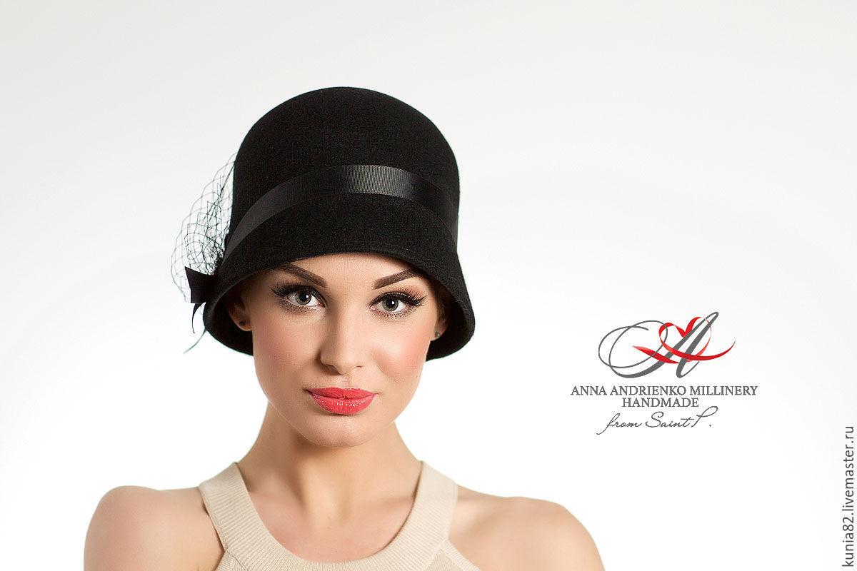 Шляпы стильная черная