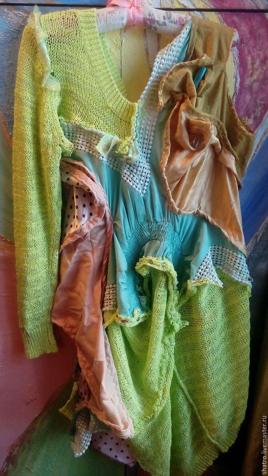 Платья ручной работы. Ярмарка Мастеров - ручная работа. Купить платье АСИММЕТРИЯ БОХО. Handmade. Желтый, платье вечернее, юбка