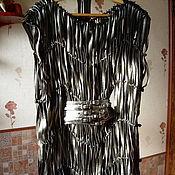 """Одежда ручной работы. Ярмарка Мастеров - ручная работа Джемпер  из натуральной кожи """"Кожаный хитон"""". Handmade."""