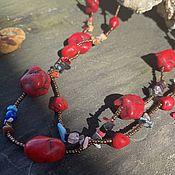 Винтаж handmade. Livemaster - original item You`re bright. Ethnic necklace. USA.. Handmade.