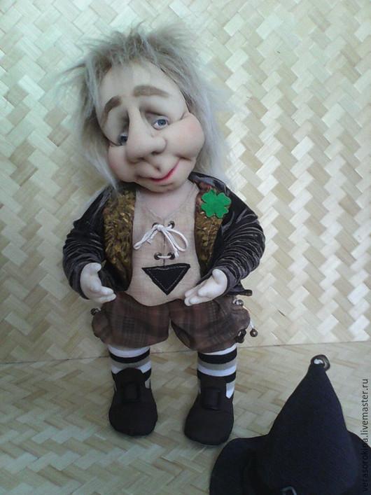 Коллекционные куклы ручной работы. Ярмарка Мастеров - ручная работа. Купить Интерьерная кукла Гном-Скромник. Handmade. Коричневый