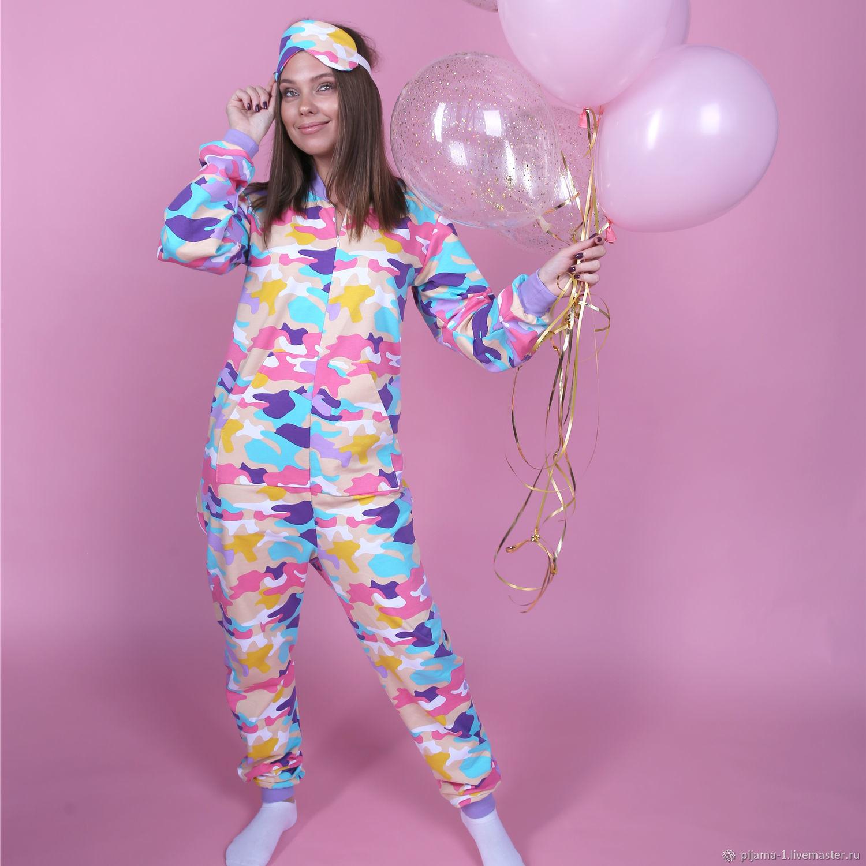 """Комбинезон-пижама с карманом на попе """"Камуфляж"""", Комбинезоны, Саратов,  Фото №1"""