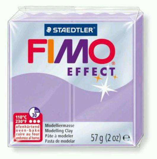 Для украшений ручной работы. Ярмарка Мастеров - ручная работа. Купить Лиловый (605) - Fimo Effect Pastel. Handmade. Телесный