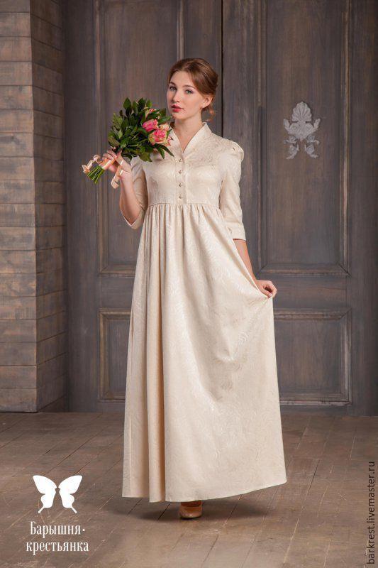 Платье свадебное крестьянка